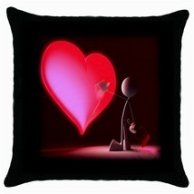 Throw Pillow Case Decorative Cushion Cover Touch My Red Heart Gift 30339163 - $16.99