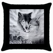 Throw Pillow Case Decorative Cushion Cover Wolf Mates Gift model 30338535 - $16.99