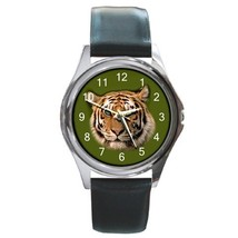 Tiger Unisex Round Metal Watch Gift model 24150676 - $13.99