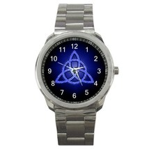 Triquetra Blue Sport Metal Watch Gift model 14867412 - $15.99