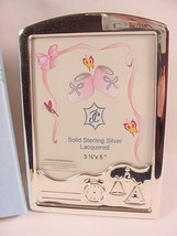 Isabel Cabanillas Sterling Silver 3.5x5 Photo Frame  Childrens Modernist... - $59.99