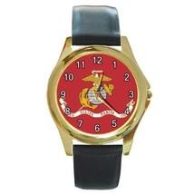 US Marine Corps Flag Unisex Round Metal Watch Gift model 22566386 - £10.22 GBP