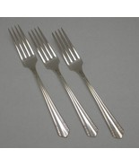Lot of 3 DINNER FORKS - MALIBU - 1934 Wm. A Rogers Silverplate ONEIDA - $12.60