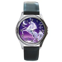 Unicorn Moon Myth Fantasy Unisex Round Metal Watch Gift model 26559917 - $13.99