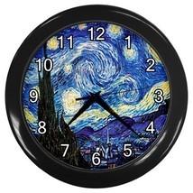 Vincent Van Gogh Starry Nigh Decorative Wall Clock (Black) Gift model 30276146 - $18.99