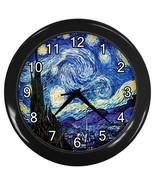 Vincent Van Gogh Starry Nigh Decorative Wall Clock (Black) Gift model 30... - $18.99