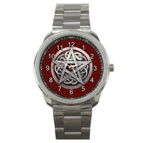 Wicca Wiccan Pentagram Sport Metal Watch Gift model 32977291