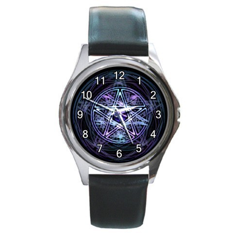 Wiccan Pentagram Pentacle Unisex Round Metal Watch Gift model 26392691