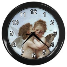 William Bouguereau First Kiss Decorative Wall Clock (Black) Gift modei 3... - $18.99