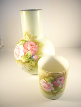 Lefton China bedside decanter with tumbler - $18.00