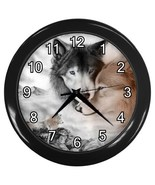 Wolf Couple Wolves Decorative Wall Clock (Black) Gift model 34789371 - $18.99