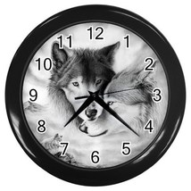 Wolf Mates Decorative Wall Clock (Black) Gift model 32047313 - $18.99