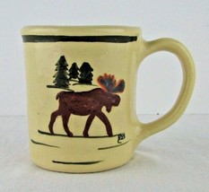 Hull Pottery Alpine Line Moose Mug Coffee Cup P... - $29.69