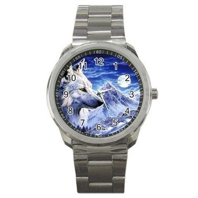 Wolf and Moon Sport Metal Watch Gift model 17195524