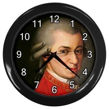 Wolfgang Amadeus Mozart Decorative Wall Clock (Black) Gift mode 33222241 - $18.99