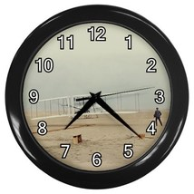 Wright Brothers First Flight Decorative Wall Clock (Black) Gift mode 332... - $18.99