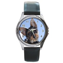 Yorkie Dog Unisex Round Metal Watch Gift model 34851715 - $13.99