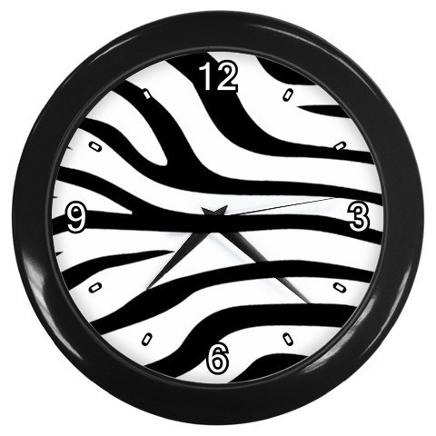 Zebra Print Decorative Wall Clock (Black) Gift model 24167838