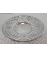 "Vintage 10 3/4"" Silverplate ROUND SERVING PLATTER TRAY PLATE W.R. 0146 - $12.12"
