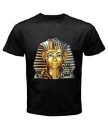 King Tut Mask Egyptian Pharaoh Men's Women's Unique Custom Printed Black... - $19.99