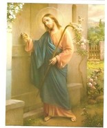 "Catholic Print Picture JESUS KNOCKING at DOOR - Simeone art 8x10"" Italy - $14.01"
