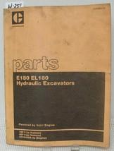 Cat Caterpillar E180 El180 Hydraulic Excavators Parts Manual Book Xebp9834 02 - $48.49