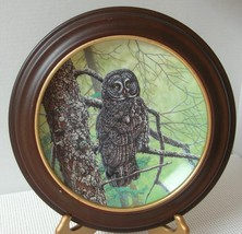 THE GREAT GREY OWL by Jim Beaudoin COLLECTOR PLATE & FRAME Knowles COA 1990 - $21.82