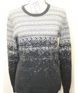 Vintage Armani Exchange Women Sweater Tribal Gray  Black White Sm Cotton... - $46.39