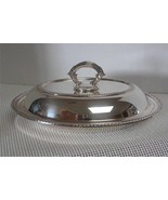 Vintage Wm. A Rogers OVAL COVERED SERVING DISH Silverplate Rope Edge Gra... - $25.21