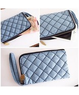 CLASSIC COOL BLUE JEANS COIN WALLET HANDMADE LADY PURSE iPhone HANDY CAS... - $22.99