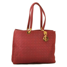 CHRISTIAN DIOR Nylon Tote Bag Red Auth 9513 **Sticky - $280.00