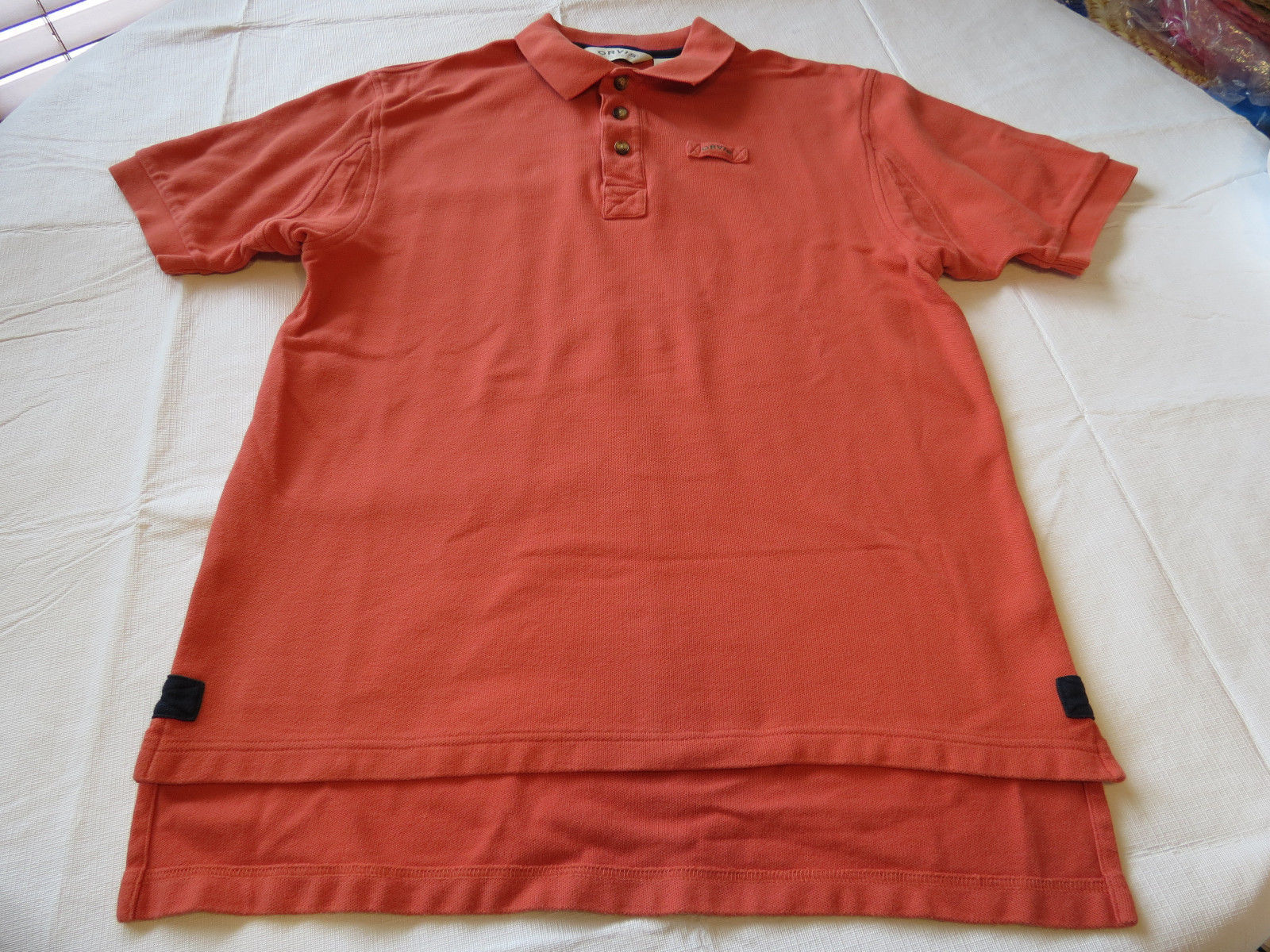 265b26772d3 Mens Orvis orange polo shirt cotton M short and 11 similar items. 57