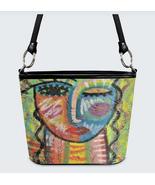 Handbag Shoulder Bag Purse Printed with Original Abstract Art - $100.00