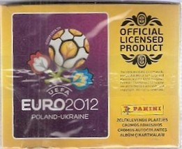 Euro 2012 Poland Ukraine Box 50 Packs Stickers Panini - $18.79