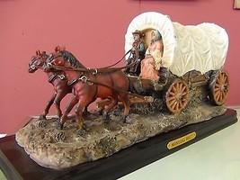 Montana West Horse Wagon Resin Figurine Cowboys... - $188.10