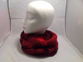New Mad About Style Red Black Infinity Scarf Stripes Vertical Horizontal