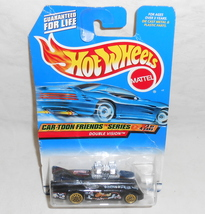Mattel Hot Wheels Cartoon Friends Series 1998 Black Double Vision Diecast Car - $7.95