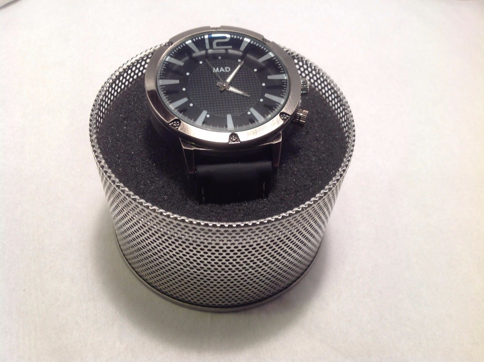New Mad About Style Stainless Steel Watch Black Face