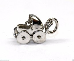 BABY STROLLER MOVING WHEELS 925 STERLING CHARM CH 265 - $17.09