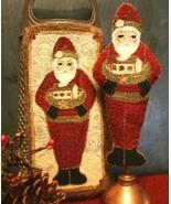 Old World Santa christmas PUNCHNEEDLE chart Fiddlestix Designs  - $10.80