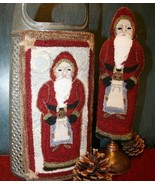 Father Christmas PUNCHNEEDLE chart Fiddlestix Designs  - $10.80