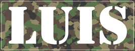 Camo Waterproof Stickers - Personalized (10 Stickers Per Order) - $5.99
