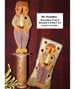 Mr. Pumpkin halloween fall PUNCHNEEDLE chart Fiddlestix Designs  - $10.80