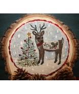 Joy reindeer PUNCHNEEDLE chart Fiddlestix Designs  - $10.80