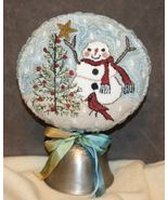 Topping The Tree snowman PUNCHNEEDLE chart Fiddlestix Designs  - $10.80