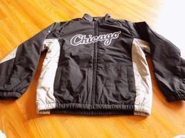 Youth Size Medium Majestic MLB Chicago White Sox Black Gray Jacket Coat... - $55.00