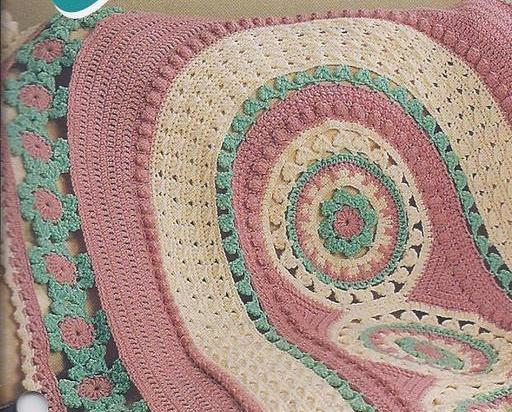 Crochet Afghan Patterns Quilt : Carousels Afghan Crochet Pattern~Annies Quilt & Afghan ...