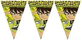 Ben 10  Party Supplies FLAG BANNER Birthday Decoration GARLAND Aliens Fr... - $12.82
