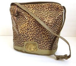 Sharif Leopard Gold Lambskin Genuine Leather Shoulder Bag Purse  - $139.32
