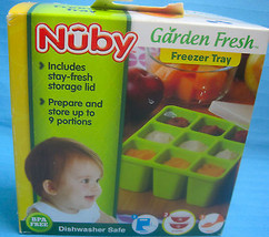 Nuby Garden Fresh Freezer Tray With Lid NEW Yellow - $15.95